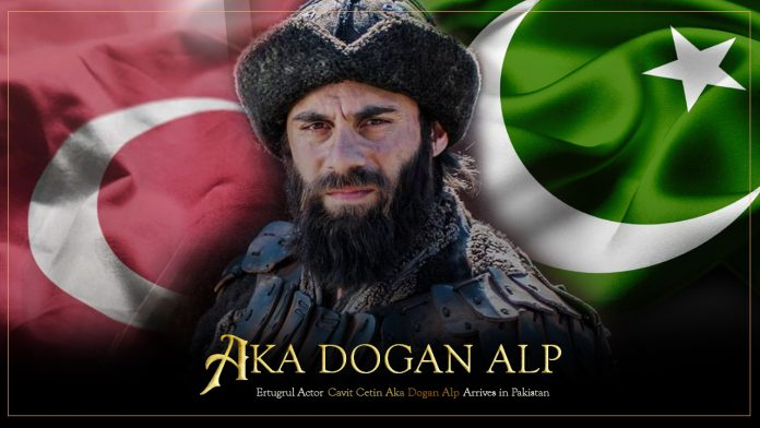 Cavit Çetin Aka Dogan Alp Arrives In Pakistan