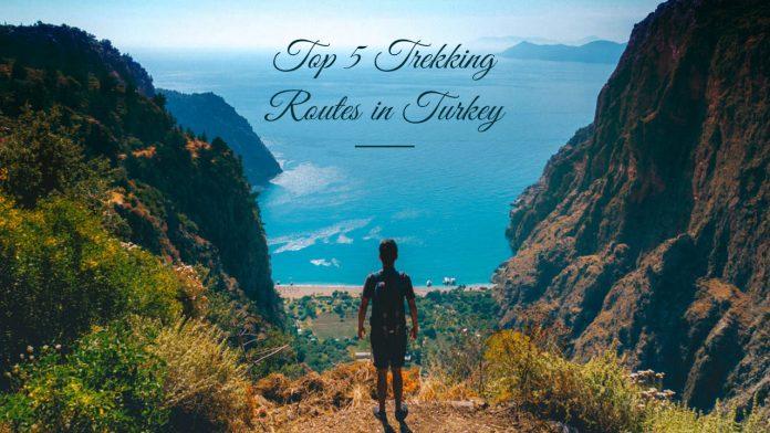 Trekking routes in Turkey